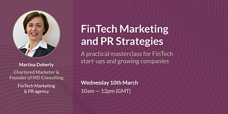 FinTech Marketing and PR Strategies: a Masterclass tickets