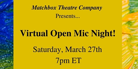Virtual Open Mic Night! tickets