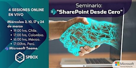 "Seminario: ""SharePoint desde cero"" Tickets"