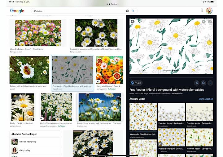 Fineliner Art -  Lettering+Florals Live ZOOM Onlinekurs - Kreativ zu Hause: Bild