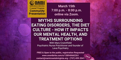 Myths surrounding eating disorders, diet culture & impacts on mental health tickets