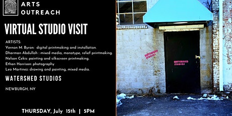 Virtual Studio Visit - WaterShed Studios, Newburgh, NY tickets