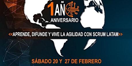 1er Aniversario Scrum Latam Comunidad entradas