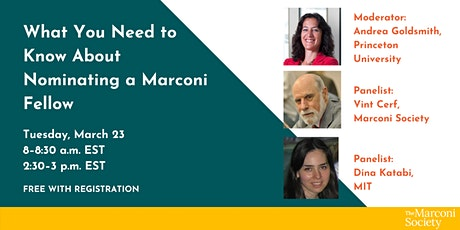 What You Need to Know About Nominating a Marconi Fellow: Afternoon Webinar tickets
