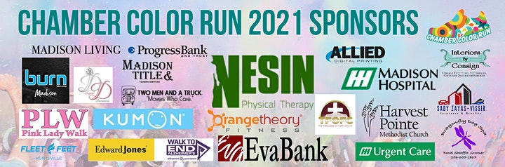 Chamber Color Run and Health Fair 2021 image