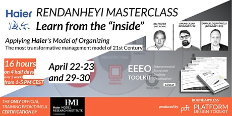 Rendanheyi Masterclass: Learning and applying Haier's Model of Organizing tickets