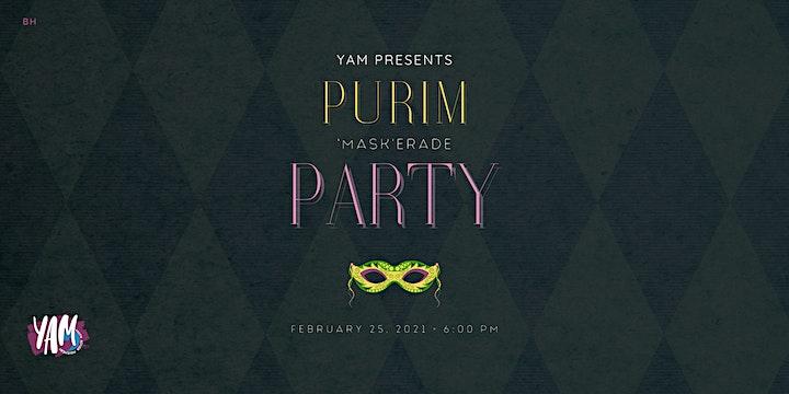 YAM: Purim 'MASKerade' Party! image