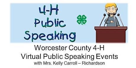 Worcester County 4-H Public Speaking Workshop biglietti