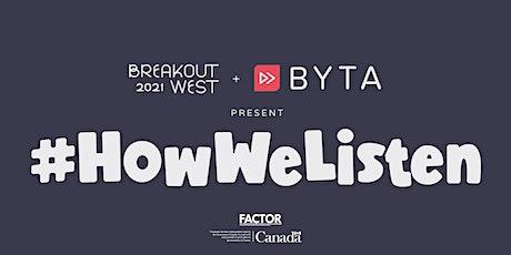 #HowWeListen - Francophone tickets