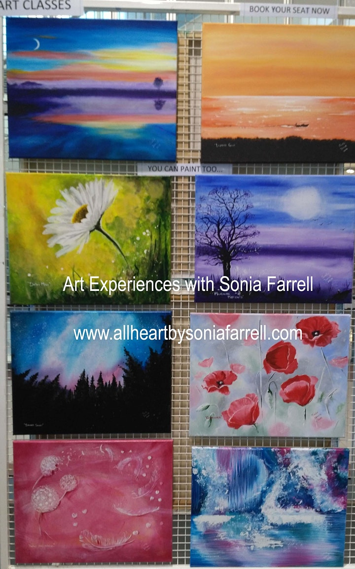 Mixed Media Abstract Art Memories with Sonia Farrell:Creative Hearts Art image