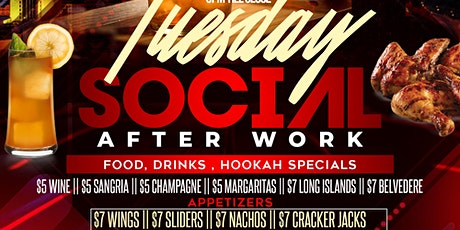 #ATL'S #1 HAPPY HOUR! TUESDAY @ SMOKEHOUSE! $5 DRINK & FOOD SPECIALS! tickets