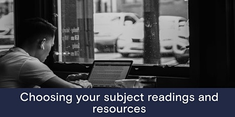 Choosing your subject readings and resources tickets
