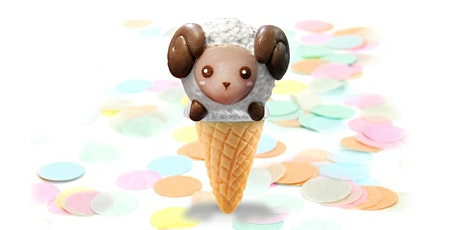 60min Easter Animal Treats Clay Sculpting-Lamb Icecream Cone @4PM (Ages 5+) tickets