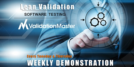 ValidationMaster Weekly Demo tickets