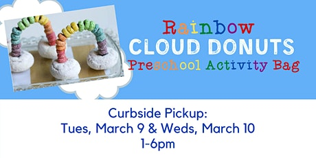 Preschool Activity Bag: Rainbow Cloud Donuts - Curbside Supply Pickup tickets
