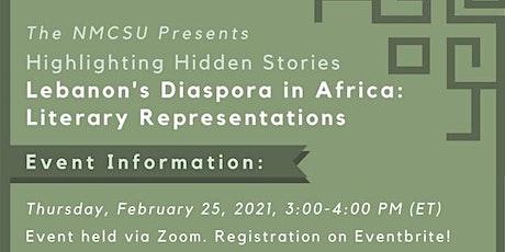 Lebanon's Diaspora in Africa: Literary Representations tickets