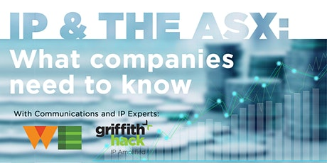 Webinar - IP & the ASX: What Companies Need to Know tickets