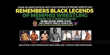 Remembering Black Legends of Memphis Wrestling tickets