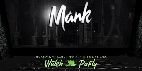 Mank Netflix Watch Party & Chat tickets