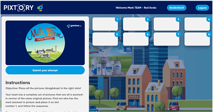 Virtual Team Building - Intro Experience to PIXTORY image