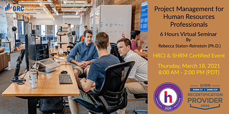 6hr Virtual Seminar - Project Management for Human Resources biglietti