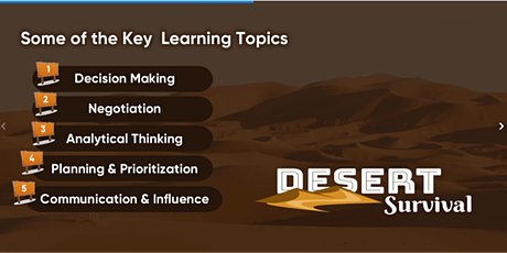 Gamify your online workshop - Intro Experience to Desert Survival tickets