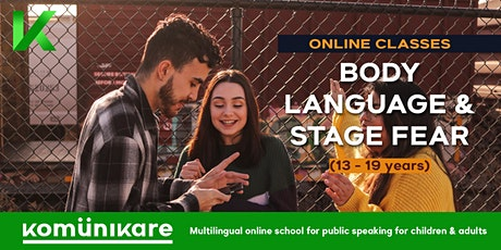 """Body language & stage fear"" for teenagers tickets"
