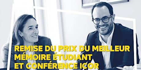 Conférence ICOR 2021 : L'engagement individuel pour un impact global tickets