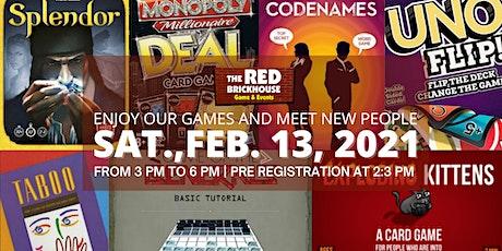 Board + Card Games Meet-UP tickets