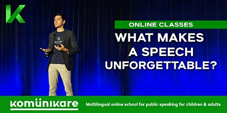 """What makes a speech unforgettable?"" for adults tickets"