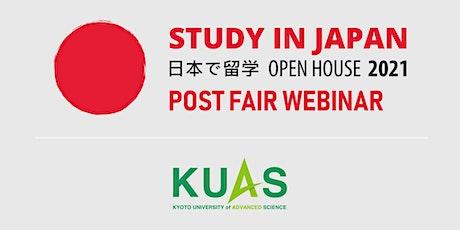 Post-Fair FREE Webinar: Study in Japan - Kyoto Uni of Advanced Sciences! tickets