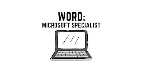 WORD Training: Microsoft Office Specialist tickets
