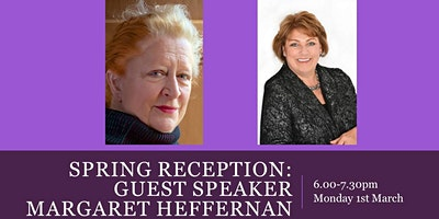 Spring Reception with guest speaker Margaret Heffernan and Janet Cooper OBE