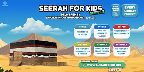 Free Children's Online Seerah Classes (Online | Sundays | 12-12.30pm) tickets
