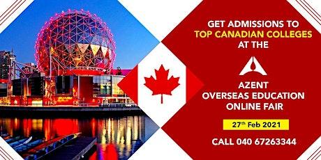Azent Overseas Education (Canada) Online Fair in Hyderabad tickets
