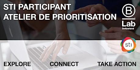 STI Participant - Atelier de priorisation (Plateforme Genève) tickets