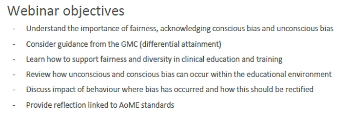 Unconscious bias in Educational + Clinical Supervision Faculty Development image