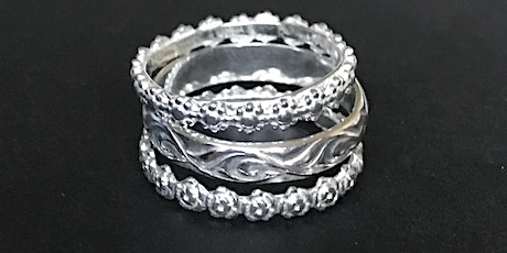 Silver Flower Stacking Rings tickets