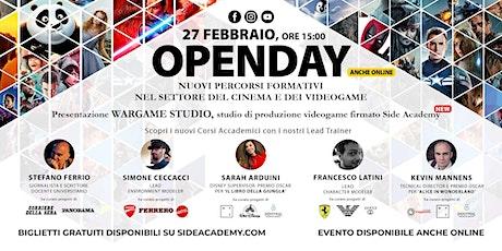 Side Academy Openday Sabato 27 Febbraio  2021 ore 15:00 biglietti