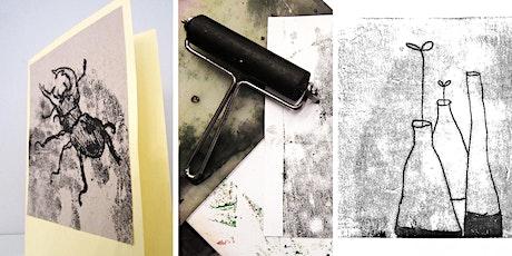 Online-Workshop | Drucktechnik Monotypie  I Für Erwachsene  ab 16 Jahren Tickets