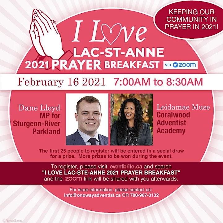 I Love Lac-Ste-Anne 2021 Prayer Breakfast image