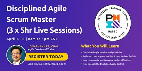 Disciplined Agile Scrum Master (DASM):  3 x 5hr Live Sessions billets