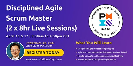 Disciplined Agile Scrum Master (DASM):  2 x 8hr Live Sessions billets