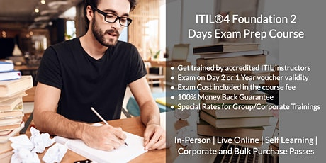 ITIL®4 Foundation 2 Days Certification Bootcamp in Charlotte, NC tickets