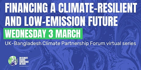 Financing a climate-resilient and low-emission future tickets