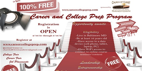 Free Career and College Prep Online Program tickets