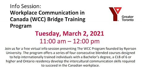 Workplace Communication in Canada (WCC) Bridge Training Program tickets