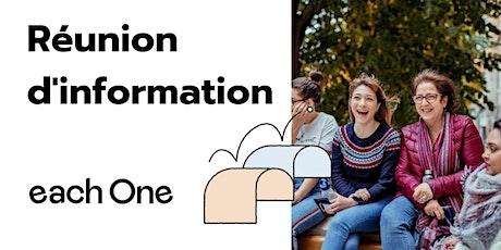 Réunion d'information each One : accompagnants  mentors, coaches et buddies billets