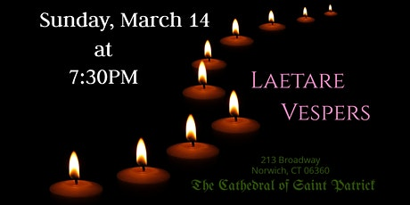 Vespers for Laetare Sunday tickets