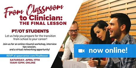 From Classroom to Clinician: The Final Lesson (Virtual Meeting) tickets
